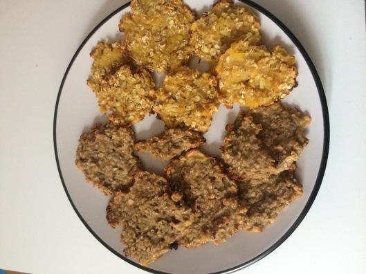 galletas de avena con platano y pera